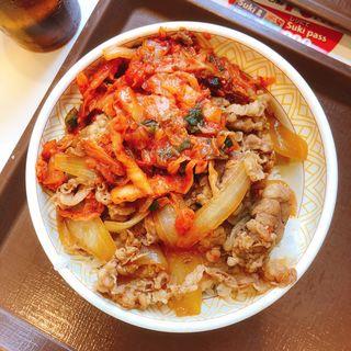 キムチ牛丼(大盛)