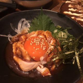 濃紅玉子鶏ユッケ(炭火焼きとり えんや 難波店 )