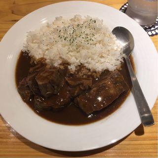たんカレー定食(大盛)(牛たん料理 閣 電力ビル店)