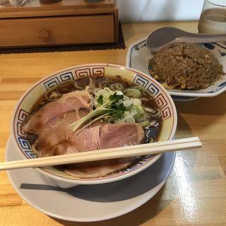 サバ醤油半チャーシューセット(サバ6製麺所 阪急梅田店)