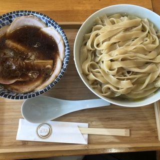 豚カツオ鶏生醤油つけそば まんぷく(麺2倍、肉2倍)(自家製麺と定食 弦乃月)