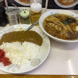 ラーメン+少カレー(三松 )