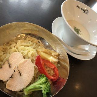 冷製ビシソワーズつけ麺(らーめん FLYINGチキン野郎)