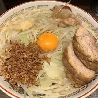小ラーメン汁なし(ラーメン豚山 下高井戸店)