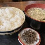 ご飯セット(味噌汁・塩昆布付)