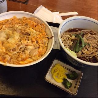 親子丼+そばセット(信州そば )