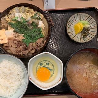 すき焼き定食(関西割烹 市むら (かんさいかっぽう いちむら))
