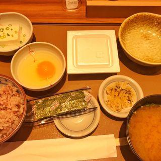 納豆朝食(五穀米)