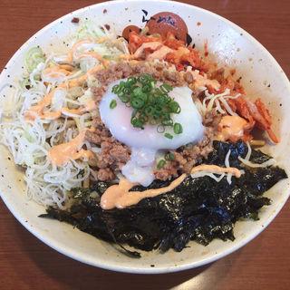 豚キムチーズ油そば (限定)(らーめん かいじ 東仙台店 )