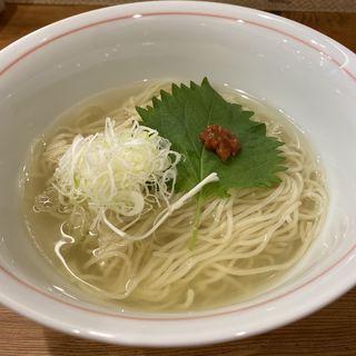 ひやし塩煮干し(別邸三く 豚骨らーめん真真(マシーン))