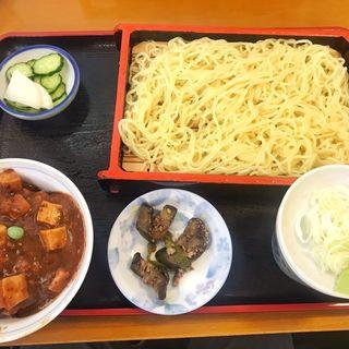 中華もりと麻婆豆腐丼セット(長寿庵 (ちょうじゅあん))