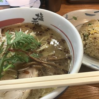 天然塩ラーメン+チャーハン(塩元帥 尼崎店 )