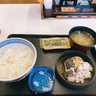 焼き鯖定食(吉野家 甲州街道府中白糸台店)