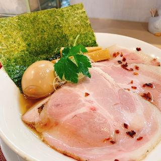 特製金色貝そば(燃えよ麺助)