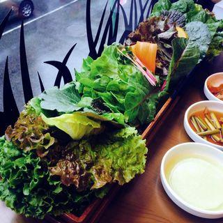 15種野菜と韓国焼肉セット
