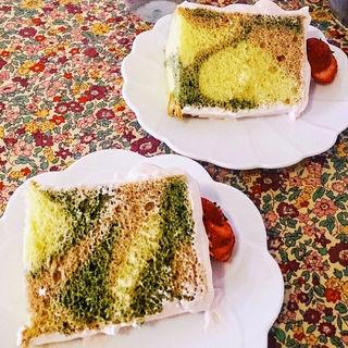 3色シフォンケーキ