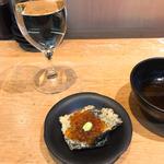 のり天 イクラのカナッペ & 茄子のプロシュート(天ぷらとワイン 小島 (コジマ))