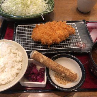 三元麦豚ロースかつ定食(新宿さぼてん )