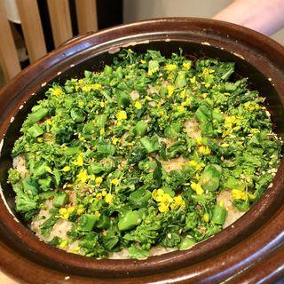 菜の花 土鍋ご飯