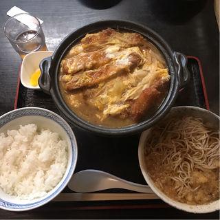 カツ丼セット(小がね そば店 本輪西店 (こがねそばてん))