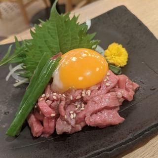 和牛ユッケ(牛寿司の牛味蔵)