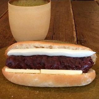 あんバターリコッタチーズサンド