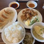 餃子唐揚定食 ライス大盛り