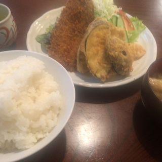 イワシフライと野菜天盛り合わせ定食