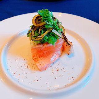 サーモンのレモンマリネ(Restaurant fi-ne )