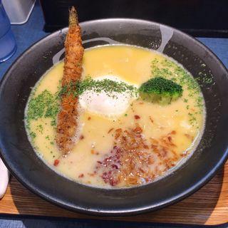 白 鶏白湯そば  (大盛同額)