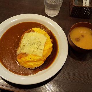 オムカレー(洋食亭 おおはし )