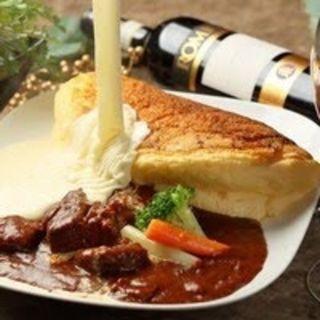 スフレオムレツ ~牛バラ肉の赤ワイン煮込み~(Meat&Cheese Ark 2nd)