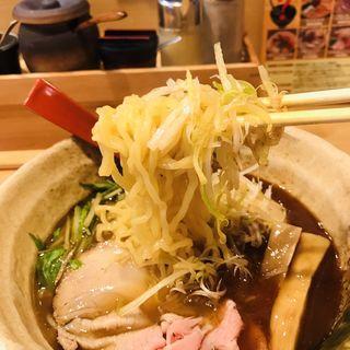味玉入り焼あご塩らー麺(焼きあご塩らー麺たかはし 銀座店)
