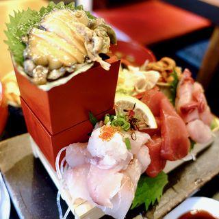 魚あて盛 パンドラの箱定食+日替わり小針2品+お味噌汁(食悦堂 (ショクエツドウ))