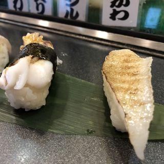 炙りえんがわ・タコ(すし将軍 西中洲店 )