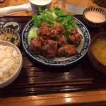唐揚げ定食(明太マヨ)(九州産直 炉端かてて 八丁堀はなれ)