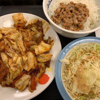 お肉たっぷり回鍋肉定食(半熟玉子)(松屋 南森町駅前店 )
