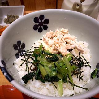 蒸し鶏と青菜(だし茶漬け えん エスパル仙台店)