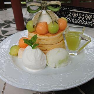 メロンのパンケーキ(カフェアンジェ (Cafe Ange))