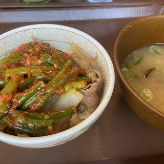 ニンニクの芽 牛丼(すき家 町田木曽店 )