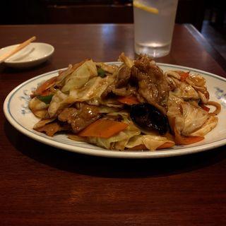 肉とキャベツの唐子味噌炒め