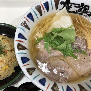 煮干し吟醸ラーメン+ミニチャーハンセット(明石食堂 (明石サービスエリア 明石食堂))