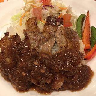 牛リブロースステーキご飯 大盛(ガスト 南阿佐ヶ谷店 )