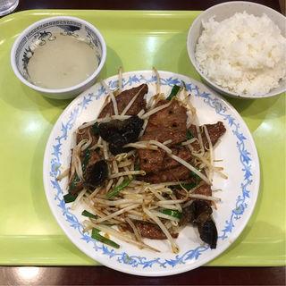 レバニラ炒め+ライスセット(北京餃子 )