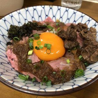 ローストビーフと牛スジのご飯(竹末食堂 )