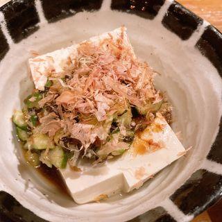 きゅうりと梅肉のさっぱり豆腐(食酒処 桃 (しょくしゅどころもも))