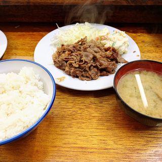 牛バラ定食(こづち)