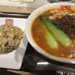 担担元味セット(辛口)(四川辣麺 阪急三番街店 (シセンラーメン))