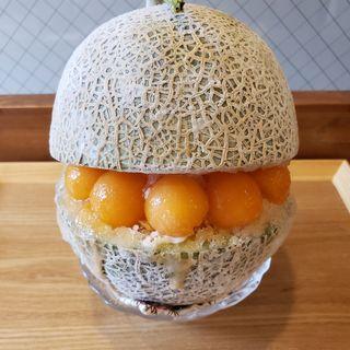 まるごとメロンかき氷(かき氷専門店&スイーツ えびす )