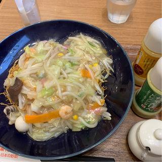 長崎皿うどん(リンガーハット プレミアム 梅田店)
